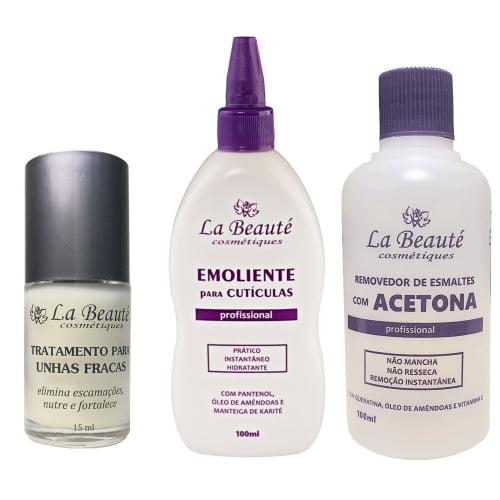 Kit Base, Emoliente e Removedor La Beauté